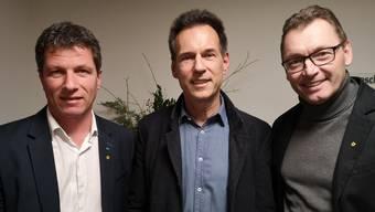 Daniel Wehrli, Christian Plüss und Tobias Leuthard (v.l.)