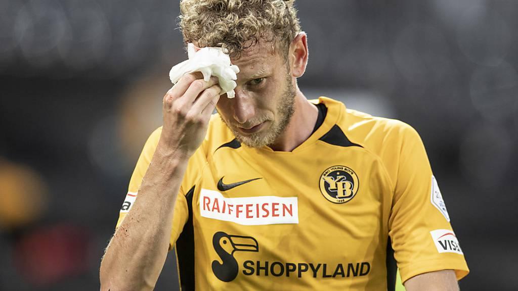 YBs defensive Lebensversicherung Fabian Lustenberger musste den Platz in der ersten Halbzeit mit einer Kopfverletzung verlassen
