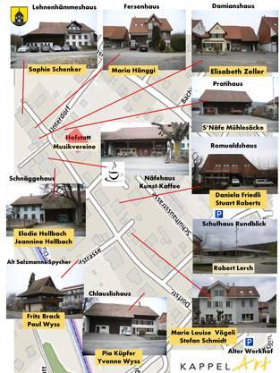 Neben dem Rahmenprogramm stellen verschiedene Kunstschaffende in unterschiedlichen historischen Gebäuden im Unterdorf aus.