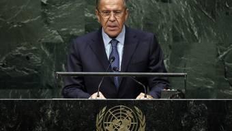 Russlands Aussenminister Sergej Lawrow kritisiert den Westen