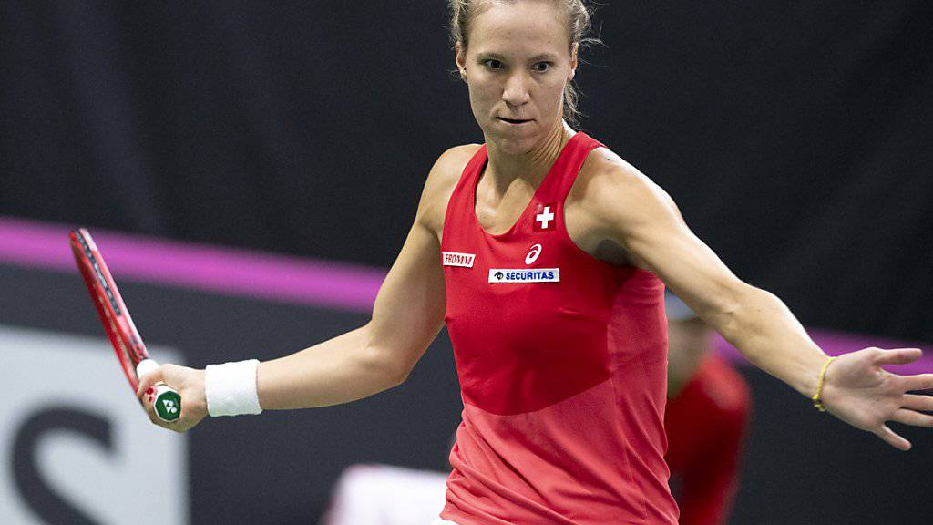 Glänzender Einstieg in das Fed-Cup-Playoff: Viktorija Golubic brachte die Schweiz 1:0 in Führung