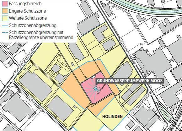Der Fleischverarbeiter Bell will auf der Parzelle Holinden, in der weiteren Schutzzone des Pumpwerkes, einen Neubau errichten