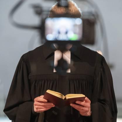 Livestream-Gottesdienste wie hier in der Fraumünsterkirche in Zürich waren gefragt. Aber sind die Menschen auch gläubiger geworden?