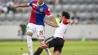 Noah Okafor stand mit dem FC Basel gegen Feyenoord Rotterdam auf verlorenem Posten