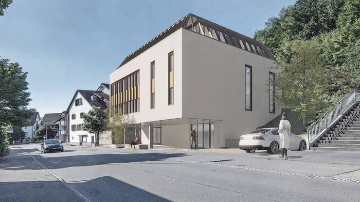 Das Gemeindehaus Kaisten kann saniert und ausgebaut werden. Bild:Visualisierung/zvg