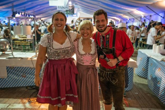 Nina Roost und Dominik Widmer am Oktoberfest in Singapur, 2018