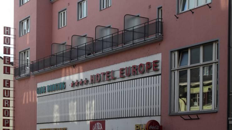 Schauplatz 2002: Das Hotel Europe in Olten. Foto: AE
