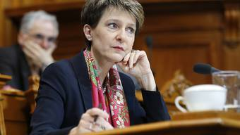 Bundespräsidentin Simonetta Sommaruga ärgerte sich im Ständerat über die Forderung nach systematischen Grenzkontrollen.