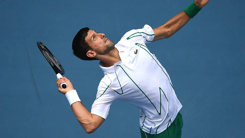 Novak Djokovic überzeugte gegen den Japaner Nishioka vor allem bei eigenem Service.