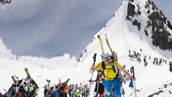 Mit den Tourenski von Zermatt nach Verbier: Der Parcours von 110 Leistungskilometern ringt den Ausdauersportlern alles ab. (Archivbild)