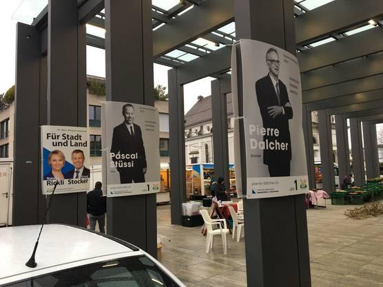 Gute Standorte für die Plakate der SVP Bezirk Dietikon. Leider mussten wir sie wieder abnehmen.