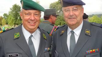 Oberst Martin Widmer (r.) und sein interimistischer Nachfolger Oberst Rolf Stäuble.