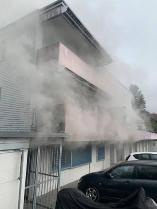 Brand im Rebmoosweg.