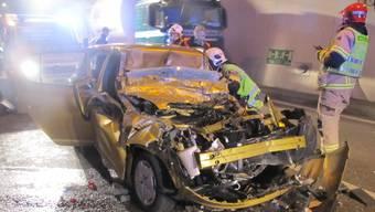 Drei Kinder bei schwerem Verkehrsunfall im Bözbergtunnel verletzt
