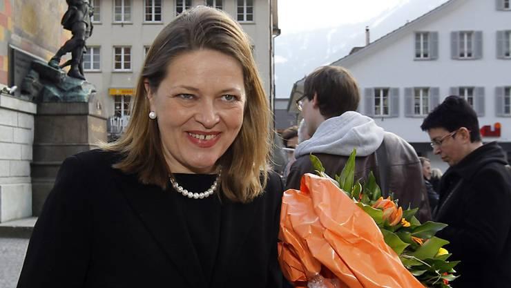Sie ist Urner Regierungsrätin, möchte aber Bundesrätin werden: Heidi Z'graggen (*1966).