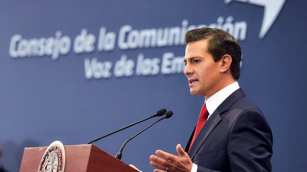 Der mexikanische Präsident Enrique Peña Nieto bestreitet Vorwürfe, wonach seine Regierung gewisse Personengruppen abgehört haben soll. (Archivbild)