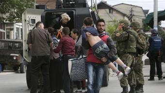 In Mazedonien kam es am Wochenende zu blutigen Ausschreitungen.
