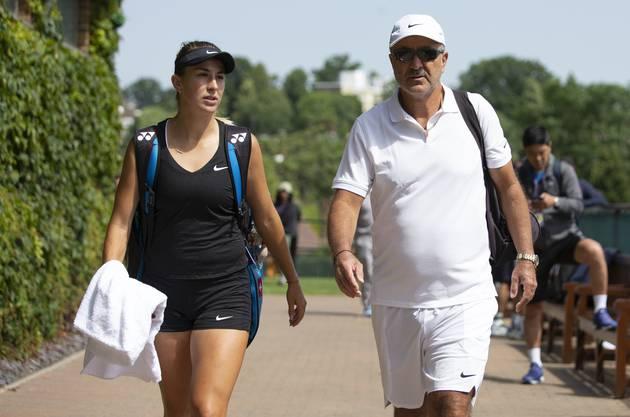 Vater und Trainer von Belinda Bencic: Ivan Bencic.