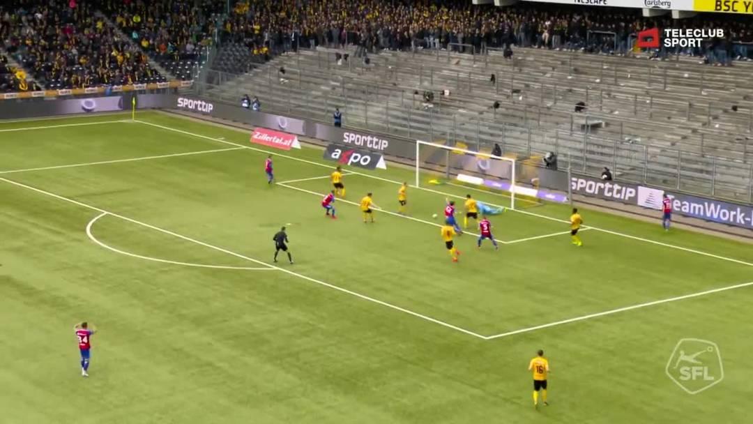 Super League, 2018/19, 33. Runde, YB - FC Basel, 4. Minute: Tor von Fabian Frei.