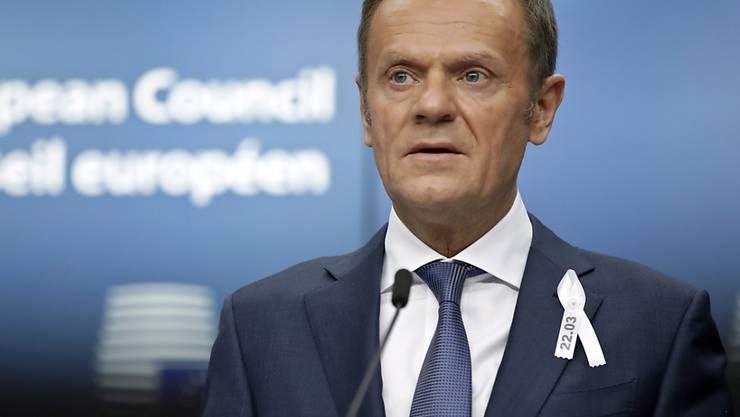 """""""Keine andere plausible Erklärung"""": EU-Ratspräsident Donald Tusk sieht Russland hinter dem Giftanschlag in Grossbritannien."""