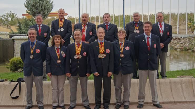 Die 12-köpfige WM-Delegation holte sich zwölf Medaillen.