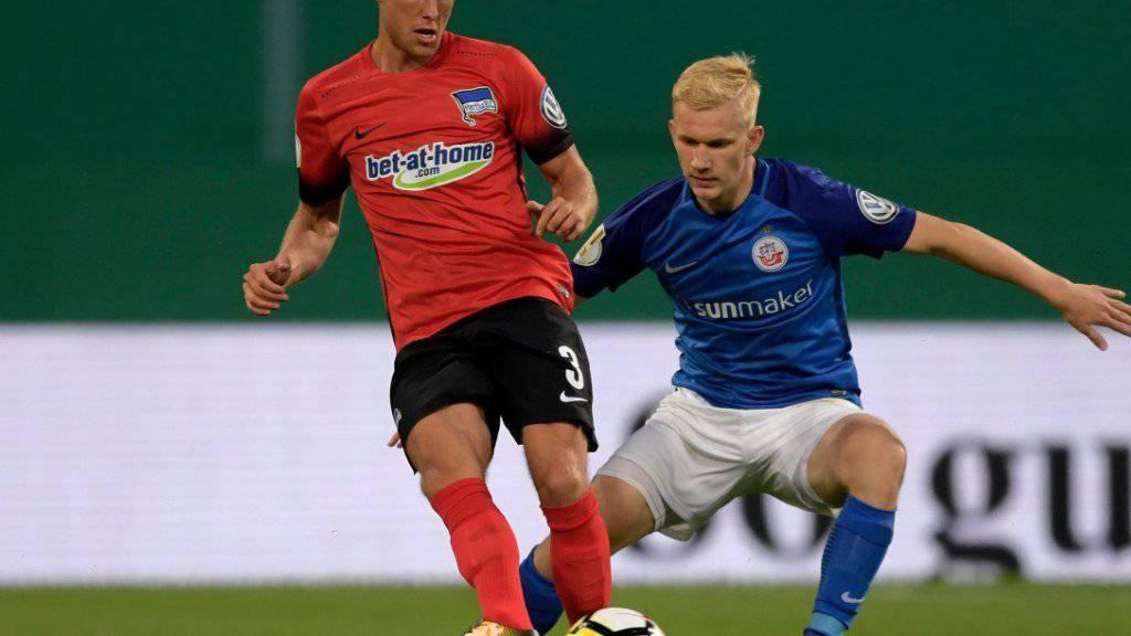 Ein aufsässiges Hansa Rostock macht Hertha Berlin im Cup das Leben lange Zeit schwer