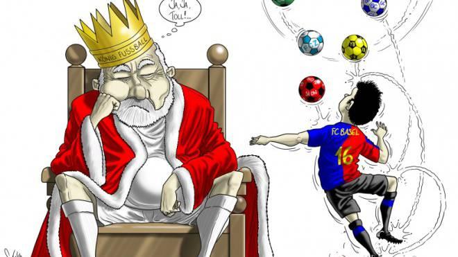 Basel siegt. Immer. Auf ewig. Seit der Entlassung von Christian Gross 2009 reiht der FCB sieben Titel aneinander. Ein Blick durch die Jahre mit Karikaturist Silvan Wegmann.