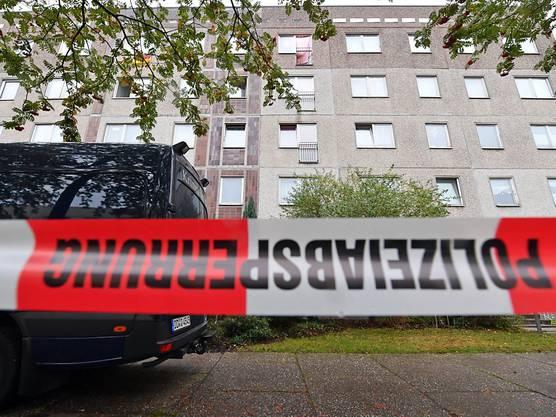 In diesem Haus in Leipzig war der Terrorverdächtige von Landsleuten gefesselt und anschliessend verhaftet worden. Laut Medienberichten hat sich al-Bakr in seiner Gefängniszelle umgebracht.