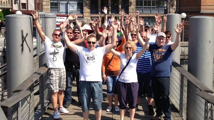 Mitglieder anlässlich der Jubiläumsreise nach Hamburg