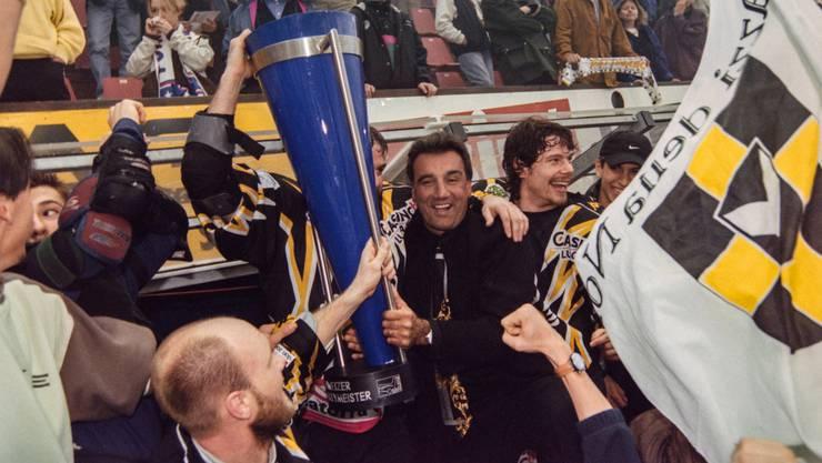 Highlight: Als Lugano-Trainer wird Jim Koleff 1999 Schweizer Meister.