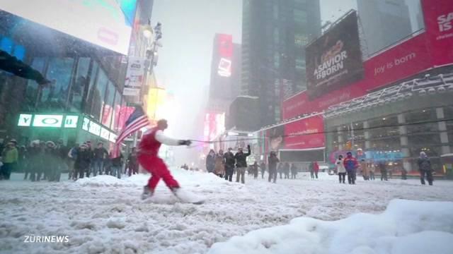 New York im Schneetaumel