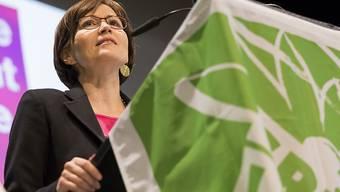 Regula Rytz, Parteipräsidentin der Grünen, kritisierte an der Delegiertenversammlung in La Chaux-de-Fonds NE die SVP heftig.