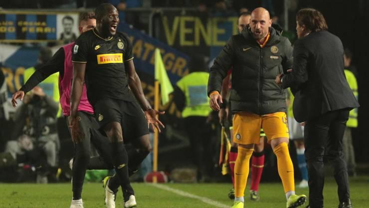 Romelu Lukaku freut sich über einen weiteren Treffer in dieser Saison