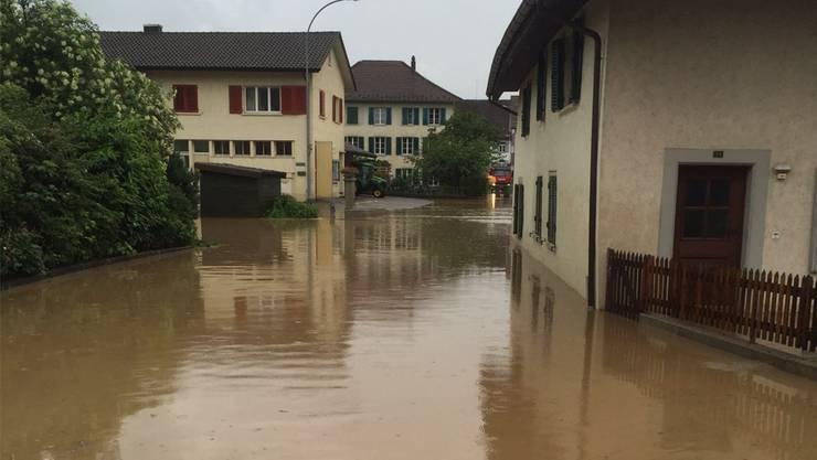 Das soll sich nicht wiederholen: Hochwasser vom 8. Juni 2016 (Bünzweg).zvg