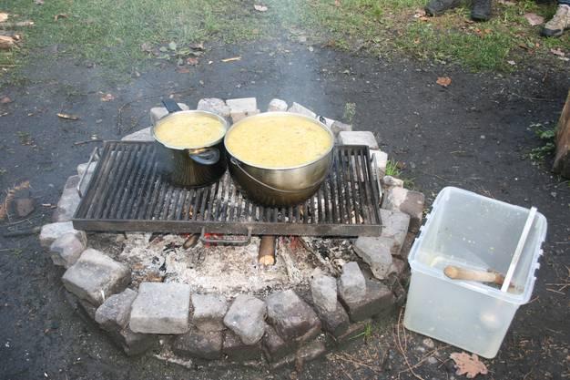 Am Ende der Exkursion wartet eine wärmende Suppe.