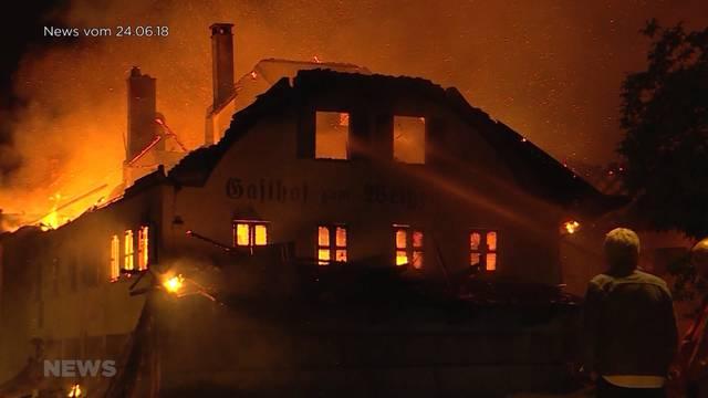 Zäziwil: Brandstifterin des Gasthofs Rössli gefasst