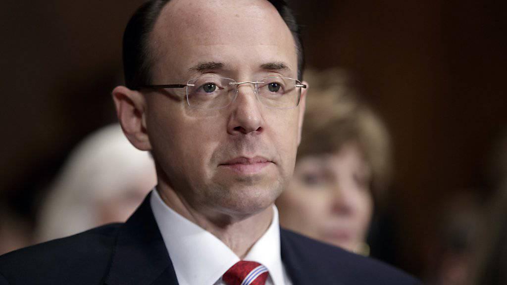 US-Vize-Justizminister Rod Rosenstein informiert kommende Woche die Senatoren über den Rauswurf von FBI-Chef Comey. (Archivbild)
