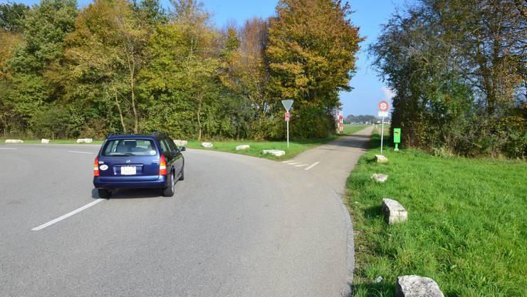 Auf diesem mit einem Fahrverbot belegten Flurweg in Härkingen kam es am 3. März 2012 zur Eskalation.