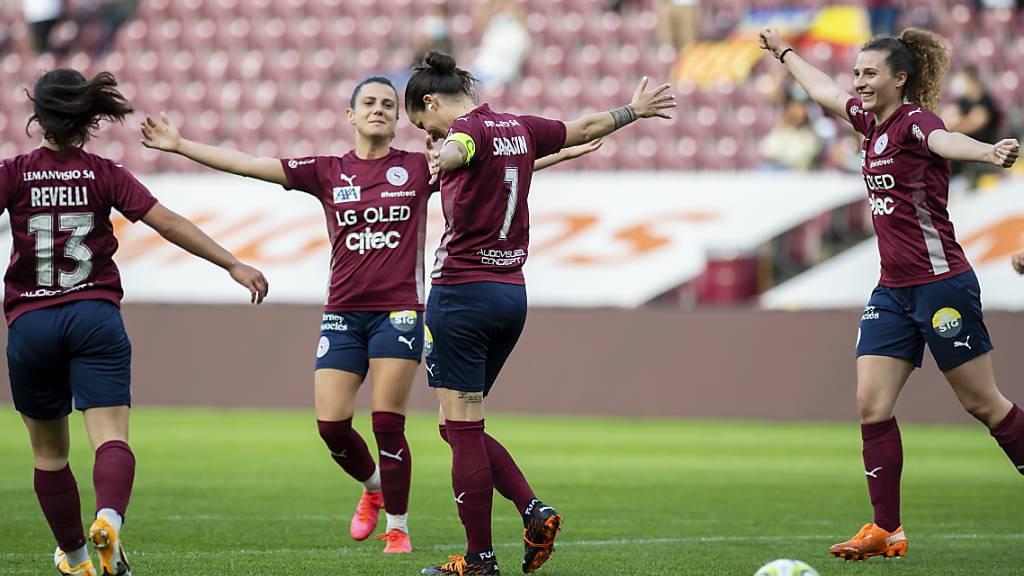 Die Fussballerinnen von Servette Chênois starten mit einem Sieg in die Europacup-Saison