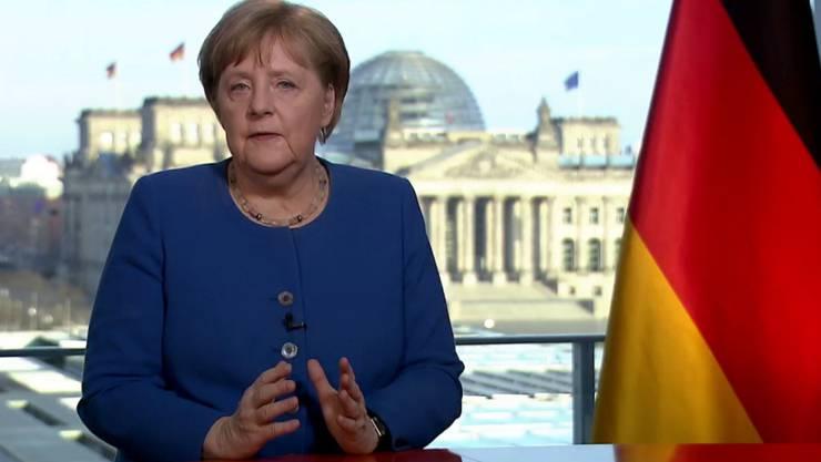 Eindringlich mahnt Kanzlerin Merkel die Menschen in Deutschland zu Solidarität und Vernunft während der Coronavirus-Krise.