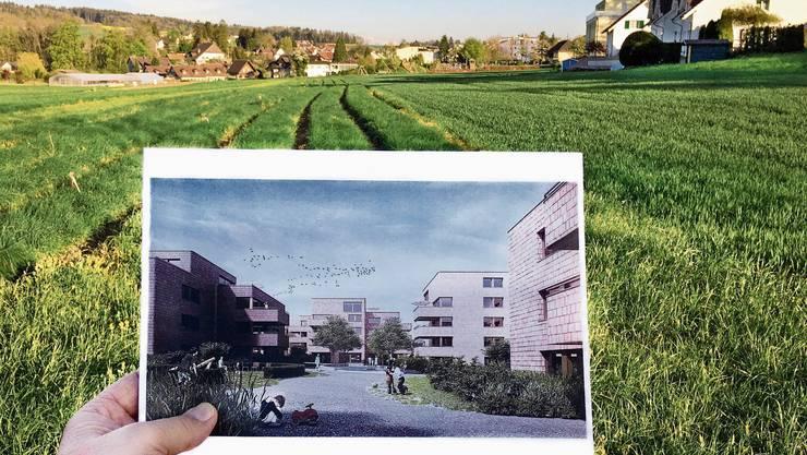 Hier soll eine Überbauung mit 240 Wohnungen entstehen.