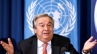 Grosse Hoffnungen ruhen auf ihm, grosse Aufgaben warten auf ihn: António Guterres. SALVATORE DI NOLFI/Keystone