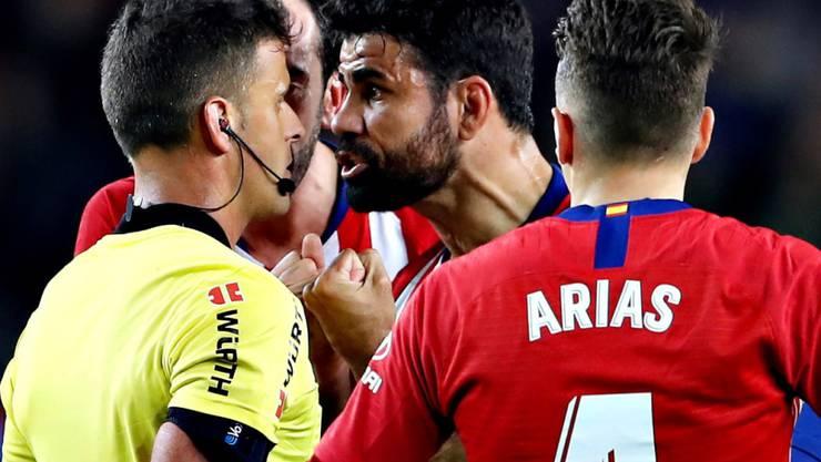 Zu nahe am Schiedsrichter, zu viele Worte: Die Saison ist für Diego Costa vorbei