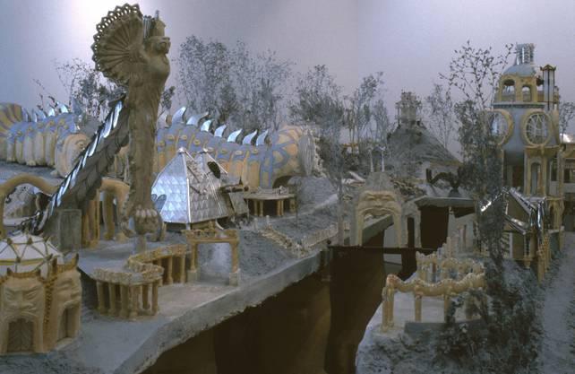 «Weinrebenpark»: Modell der heute «Bruno Weber Park» genannten Anlage (1991).