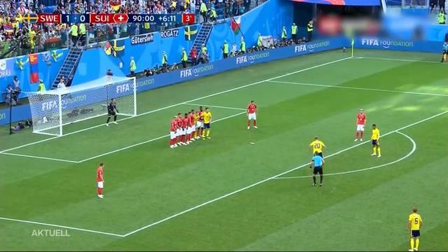 Schweiz-Schweden: die Schlüsselszenen des Spiels