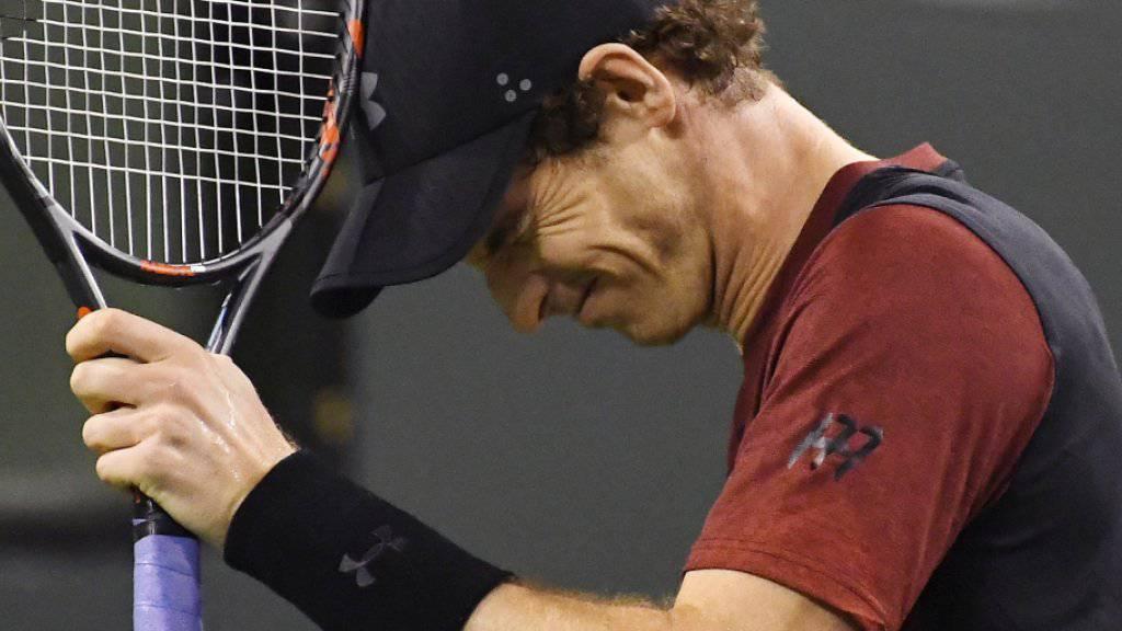 Der Weltranglisten-Erste Andy Murray laboriert noch immer an einer Ellbogenverletzung