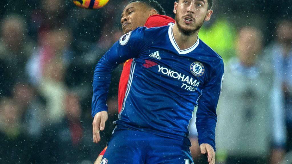 Chelseas Eden Hazard brachte Chelsea bei West Ham United 1:0 in Führung