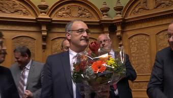 Die Wahl von Guy Parmelin und seine Rede im Video.