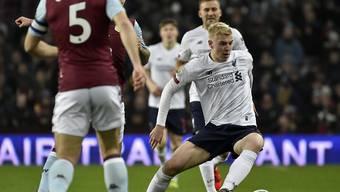 Die jungen Liverpooler um Luis Longstaff konnten gegen Aston Villa nichts ausrichten