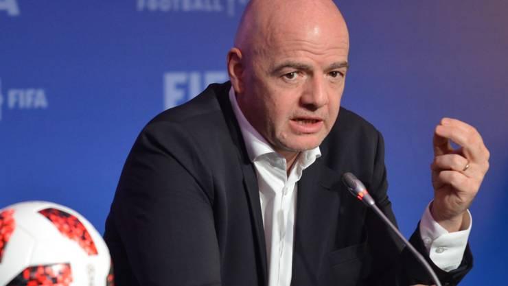 Sieht Corona als grosse Herausforderung für den Fussball: FIFA-Präsident Gianni Infantino